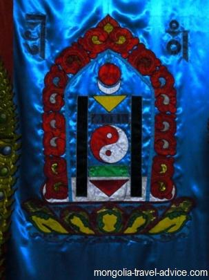 mongolia flag soyombo symbol
