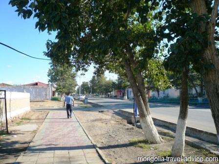 Khovd street West Mongolia