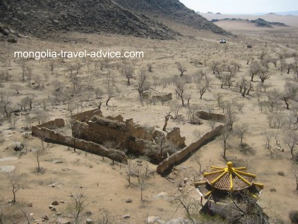 destroyed buddhist temple mongolia