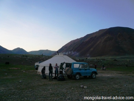 Ger camp Tavan Bogd western Mongolia