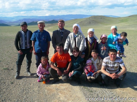mongolia pictures: Kazakh family