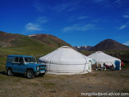 Mongolia images; yurts in the Altai Mountains