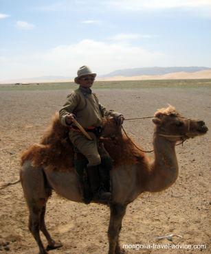 Gobi Desert Mongolia camel ride