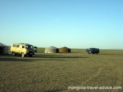 Gobi desert gers