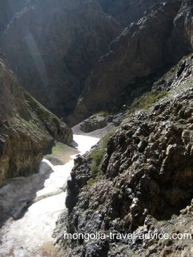 Gobi Desert Ice Gorge Yolyn Am