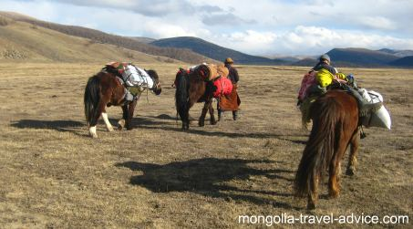 Mongolia horse trek central Mongolia