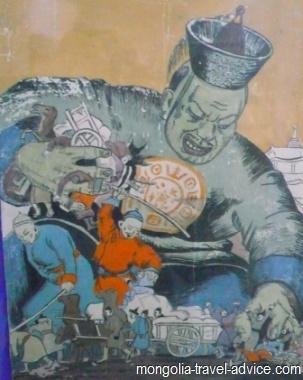 mongolia religion communist propaganda