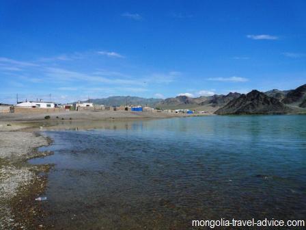 Khovd river Olgii Mongolia