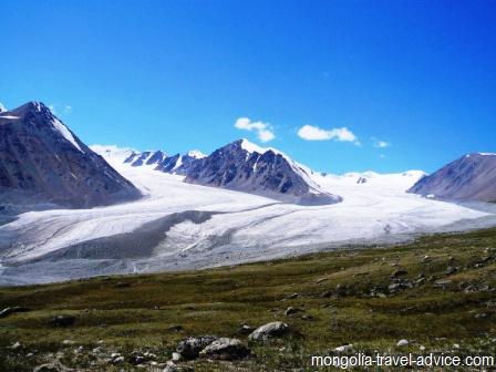 Glaciers Altai Mountains Tavan Bogd Park West Mongolia