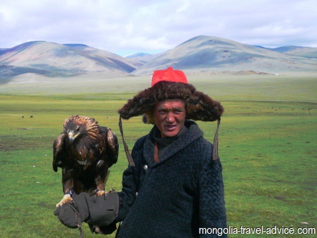 eagle hunting west mongolia