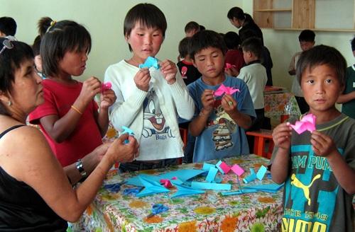 Mongolia street children