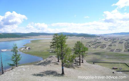 View of Khatgal, Mongolia
