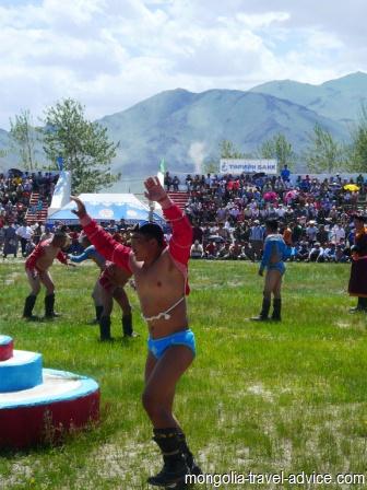 Mongolian naadam festival oglii wrestling