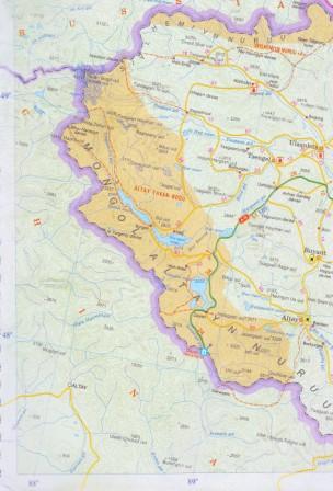 map tavan bogd park west mongolia