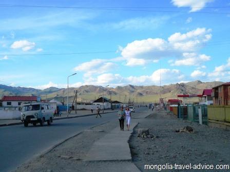 Olgii street bayan olgii west mongolia