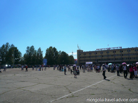 Khovd city square western mongolia